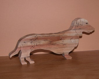 Dachshund - Home Decor Dog Puzzle - Dachshund Office Decor - Wiener Dog