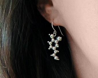 Dopamine Earrings - Sterling Silver - Molecule Jewellery