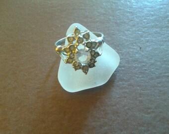 Vintage Sterling Silver Rhinestone Ring