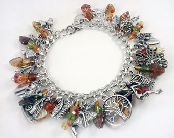 Autumn Fairies Charm Bracelet