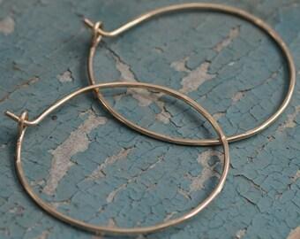 SALE Gold Hoop Earrings Simple Elegant Hoops 14K Gold Filled Modern Earrings By Figgy Lane Jewelry