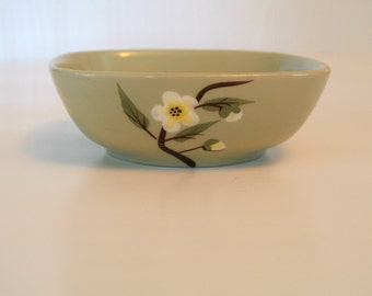 "Mid-Century Weil-Ware ""Blossom"" Pattern Fruit Bowls-Celadon Green-Listing is for ONE (1) Bowl"