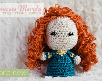 Princess Merida Amigurumi Doll inspired by Disney's Brave // Disney Crochet Pattern // Instant Download