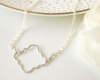 Moroccan Sterling Silver Bracelet - Quartrefoil