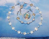 Stella Maris, Mary Star of the Sea,Traditional Catholic Chaplet from the Special Edition Handcrafted Art Chaplets and Prayer Beads