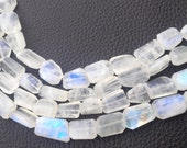 New Arrival, Amazing Blue Flashy RAINBOW MOONSTONE Faceted Nuggets ,10-12mm,Full 8 Inch Strand,Amazing Rare Item