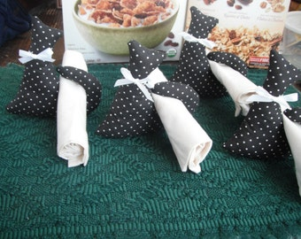 Halloween / Cat Napkin Rings /  Napkin Holders / Kitchen Dining Gifts / black cat / Top Seller / Handmade Gifts