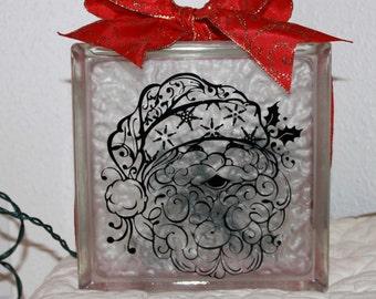 Santa DIY decal for glass block