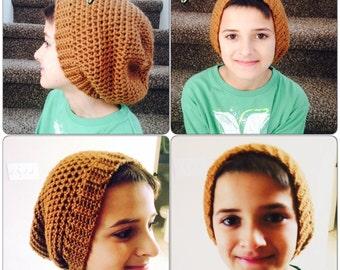 Boys or Mens Slouchy Crochet Beanie