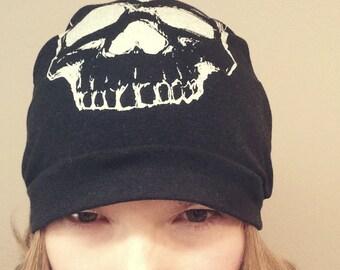Skull Print Beanie Hat