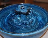 "Ceramic Cat Fountain - Pet Fountain, Foodsafe -  ""4 Petal"" - 11 inch Diameter"