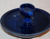 "Cat Fountain - Pet Fountain - Indoor Fountain, REDUCED  - 11.75 Inch Diameter ""Cobalt Bateau"""