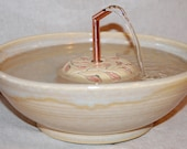 """Cat Fountain -  Pet Fountain -  Indoor Fountain - REDUCED - 11 Inch Diameter -""""Barberry 30D"""""""