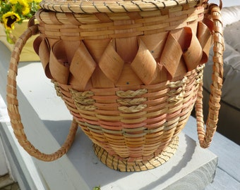 SALE!!! 110.00 was 145.00Vintage Strawberry Handmade Basket In Great Condition