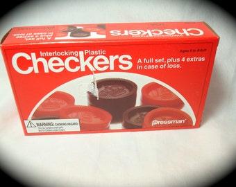 Vintage New 1983 Checkers by Pressman.