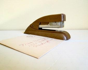 Vintage Swingline Stapler No. 77S  - Taupe Color - Retro Office Accessory
