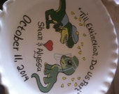 personalized pie dish RESERVERD for SHER