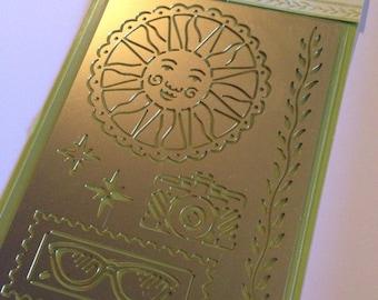 Sunshine Metal Stencil from K&Company and Inkadinkado