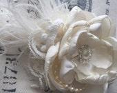 Petite Bridal Flower Clip