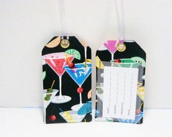 Martini Fabric Luggage Tag