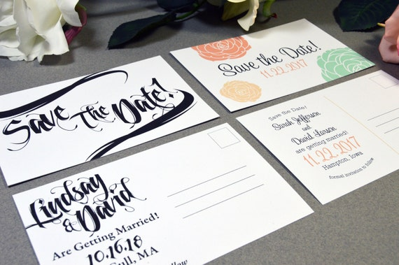 Save the Date Postcards - Wedding Save the Dates - Custom Save the Date - Save the Date Invite - Invitation Postcard - Printable or Printed
