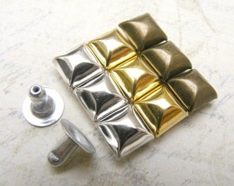 50 sets VINTAGE curve PYRAMID studs Rivets Nailheads decorating item for leather crafts