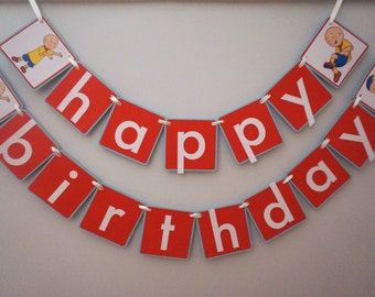 Caillou Birthday Banner - MADE TO ORDER
