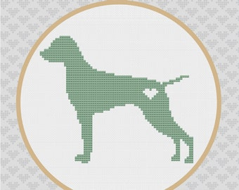 Vizsla Silhouette Cross Stitch PDF Pattern