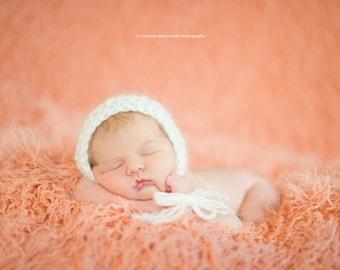 Mohair Hat, Baby Bonnet, White Hat, Newborn Photography, Photo Prop, Baby Hat, Newborn Hat, Photography Prop