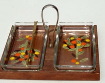 Unique canape tray related items etsy for Wooden canape trays