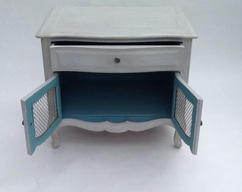 French Provincial 1950's Night-Stand/ Paris Apartment Side Cabinet