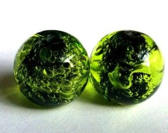 Fizzy  Beads - Handmade Lampwork - UK - SRA