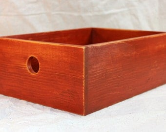 Desktop Storage Box in Antique Red