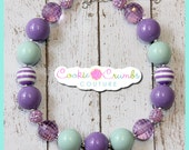 "RTS ""Lavender Fields"" Chunky Beaded Necklace for Girls in Limited Quantities"