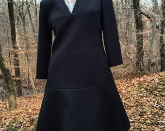 60s Couture Black A Line Dress                 International Shipping