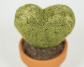 Needel felt the Heart cactus,Eco Friendly decoration or pincusion