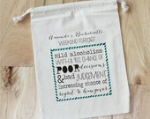 BACHELORETTE forecast- Survival Kit - Personalized Favor Bags - Set of 10 - Bachelorette Party - Wedding Shower