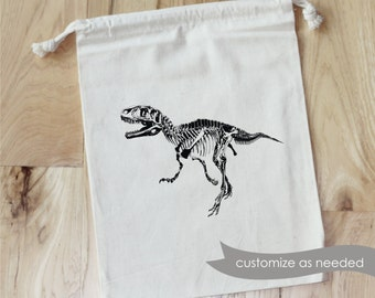 Dinosaur - Personalized Favor Bags - Set of 10 - Birthday - dinosaurs - T-rex