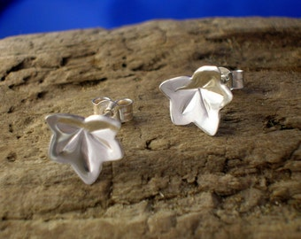 Silver Leaf Studs, Sterling Silver Studs, Leafs, Leaves, Small Studs, Handmade, 925 Silver