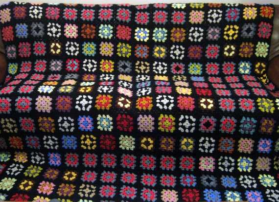 The Big Bang Theory Crochet Granny Square Blanket Huge XL
