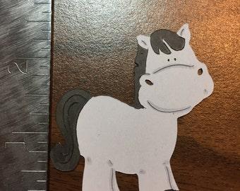 Gray Horse - die cut