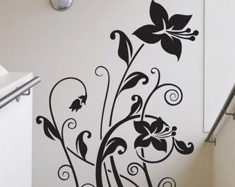 Vinyl Wall Decal Sticker Tall Lilies 1506m