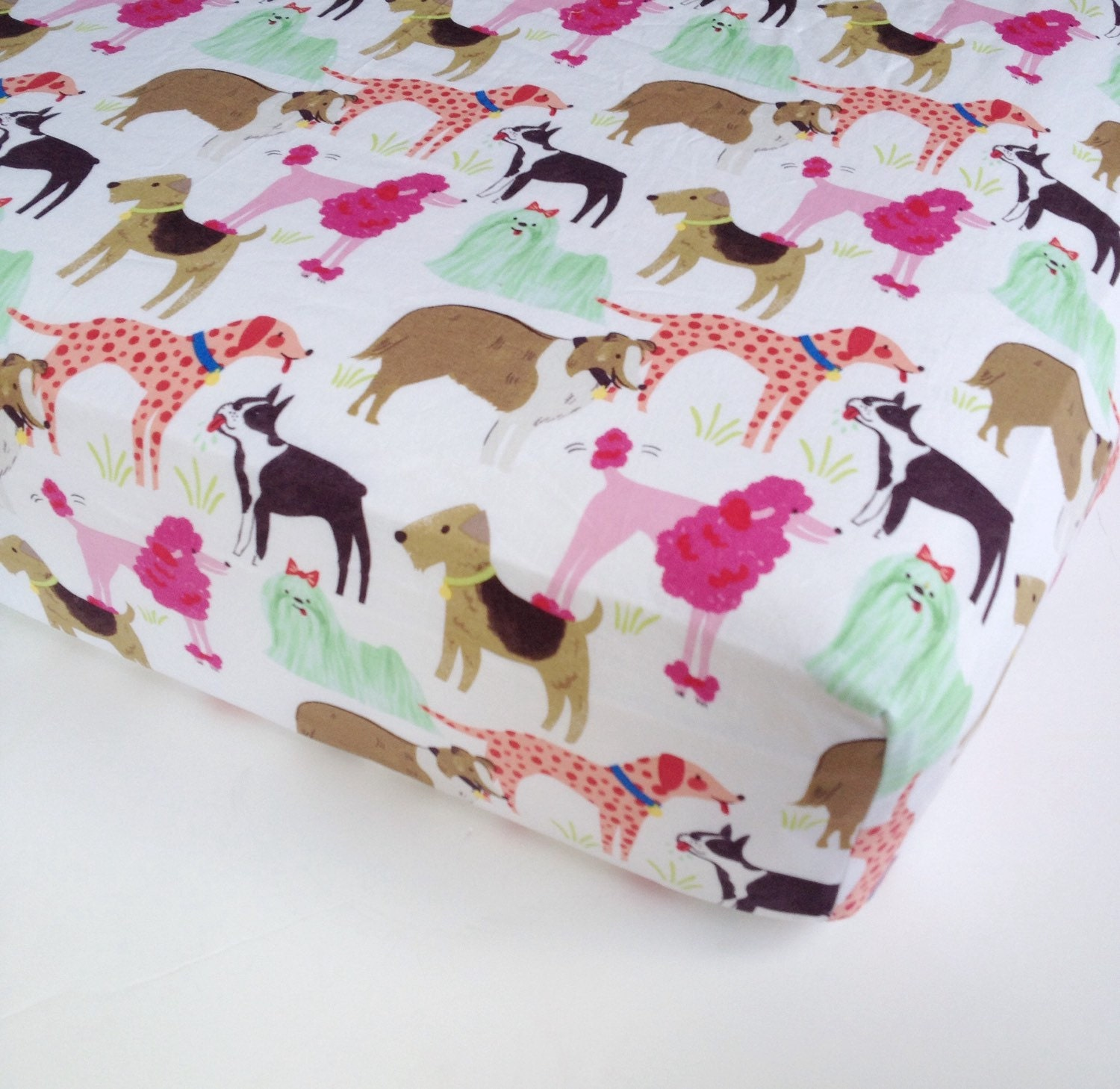 Baby Girl Bedding Dog Crib Sheet Standard Or Mini By