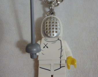 Custom Fencer Necklace Made With Genuine LEGO® Bricks
