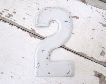 Vintage Metal Sign - Number Two