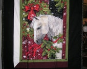 Horse Blanket Christmas Theme - Cotton Front and Flannel Back