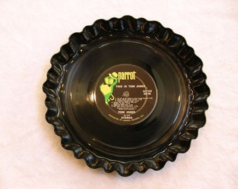 Tom Jones Record Bowl Serving Platter - Recycled Vinyl Album