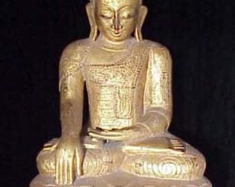 Large Burmese Lacquer Buddha