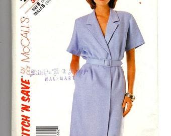 Vintage Sewing Pattern McCalls Dress Belt pattern Sz 16 80s Seamstress Tailor Supplies