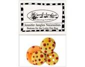 Jennifer Jangles Button Set Necessities Pack Lottie Dot Bag Yellow Orange Red Dots